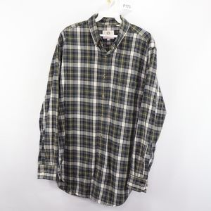 80s Viyella Mens Medium Plaid Button Up Shirt